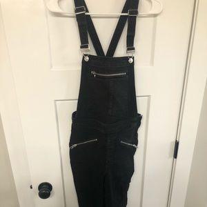 H&M black skinny overalls